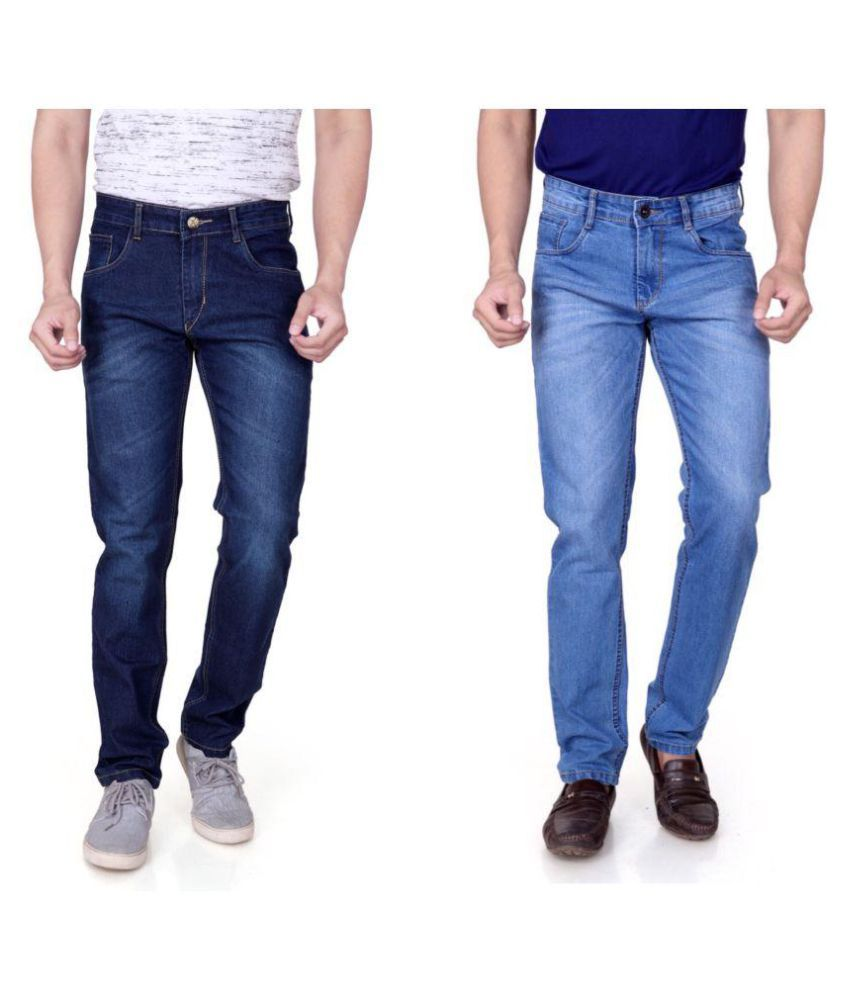 RAGZO Multicolored Slim Jeans