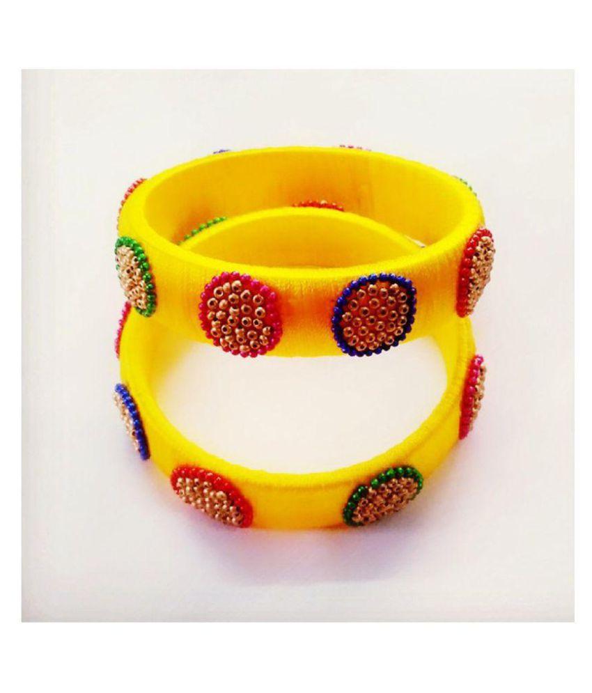 New silk thread bangles for women & girls