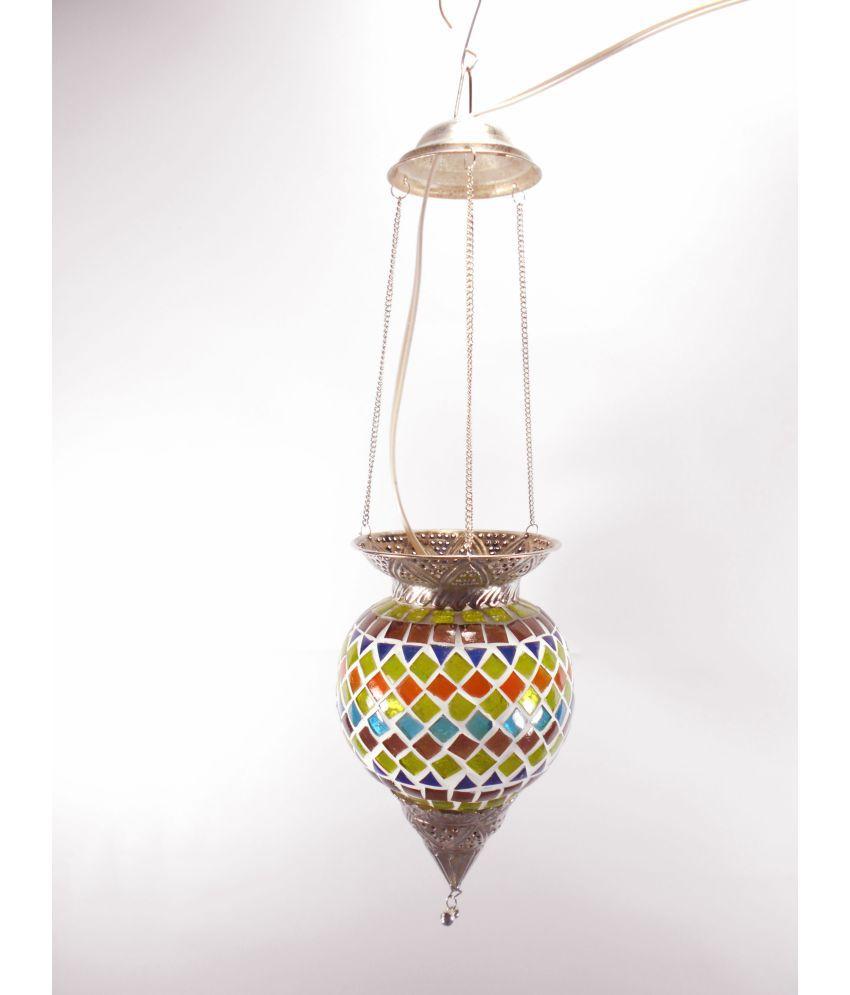 Susajjit Decor Glass Decorative Pendant Multi - Pack of 1