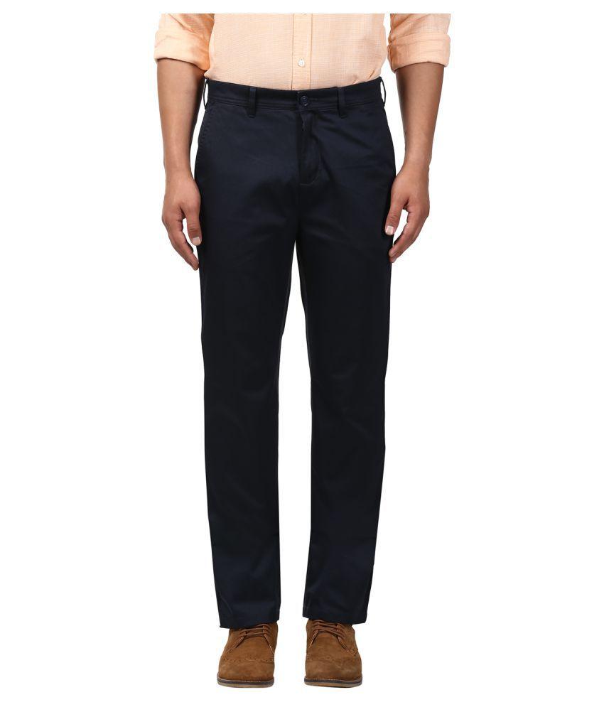 Colorplus Blue Regular -Fit Flat Trousers