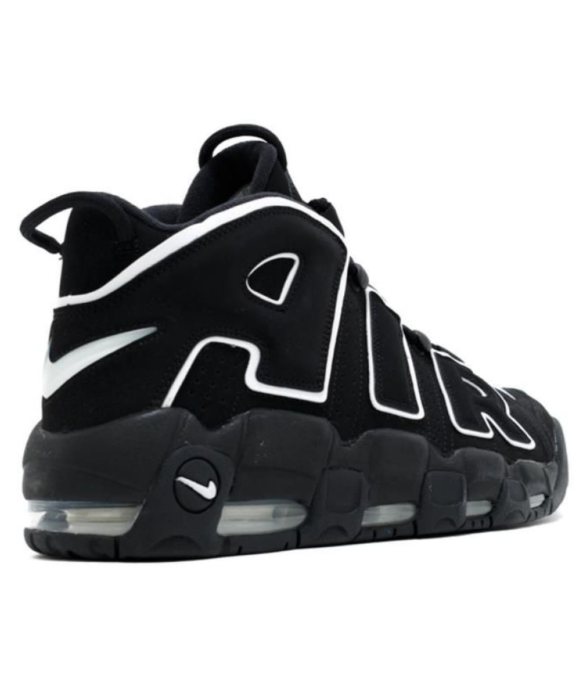 6b1f43b027a Nike AIR MORE UPTEMPO Black Basketball Shoes