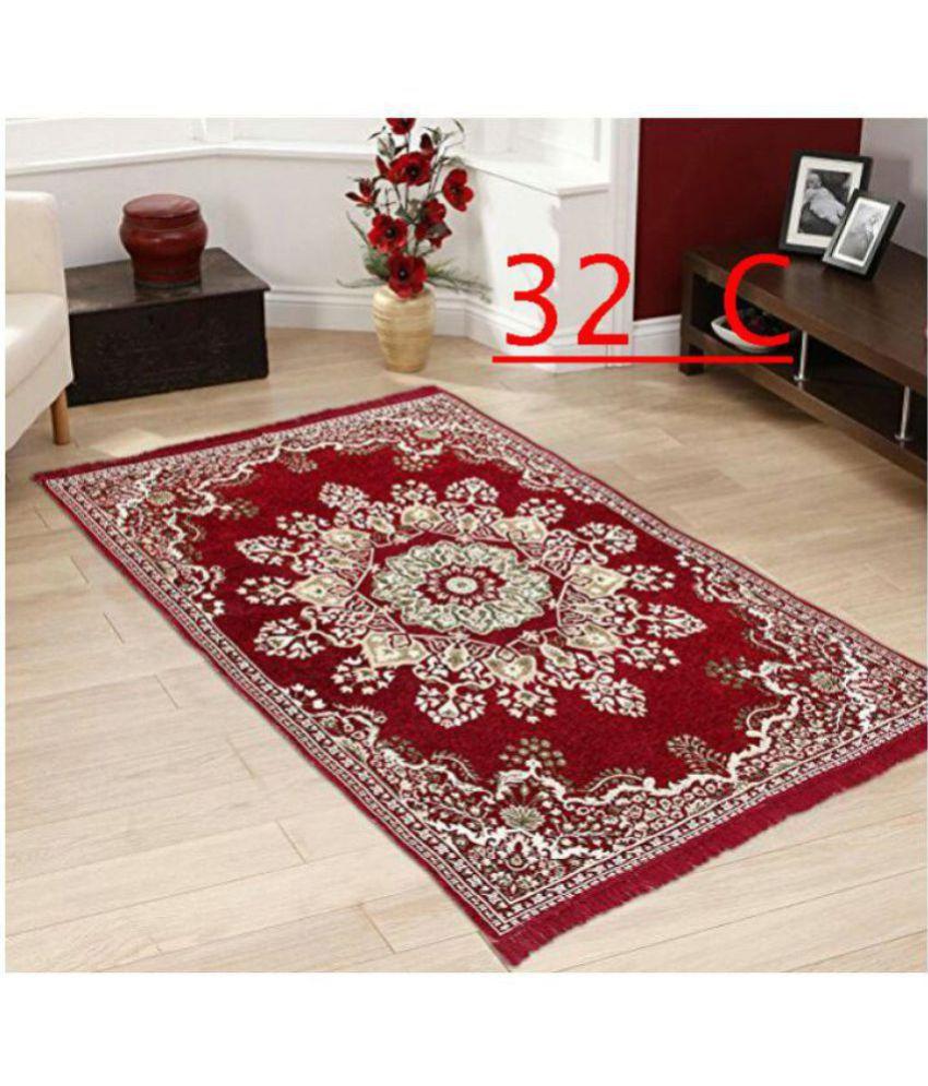 FARSH Multi Chenille Carpet Abstract 5X7 Ft