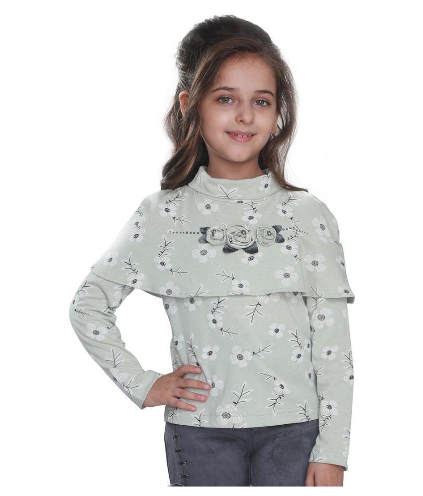 Cutecumber Girls Partywear Cotton Spandex Top
