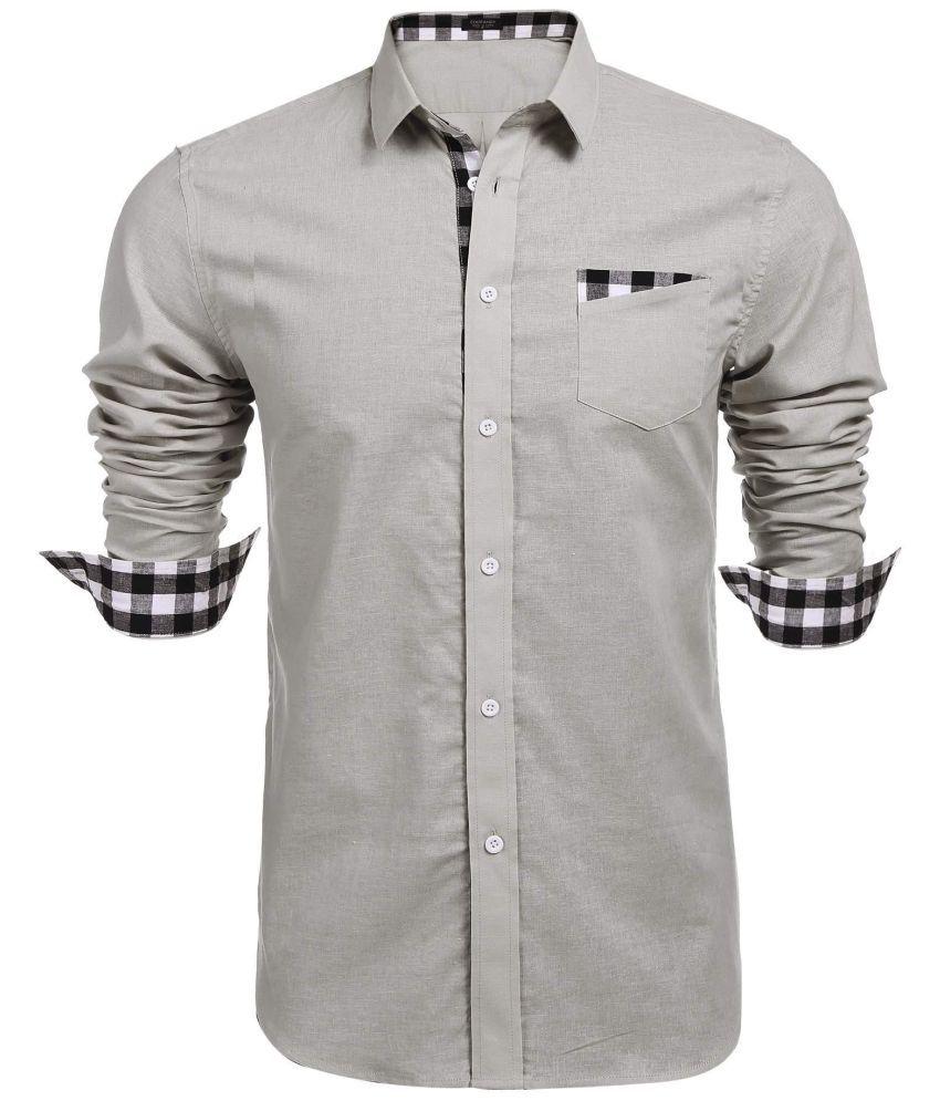 Generic Beige Regular Fit Shirt