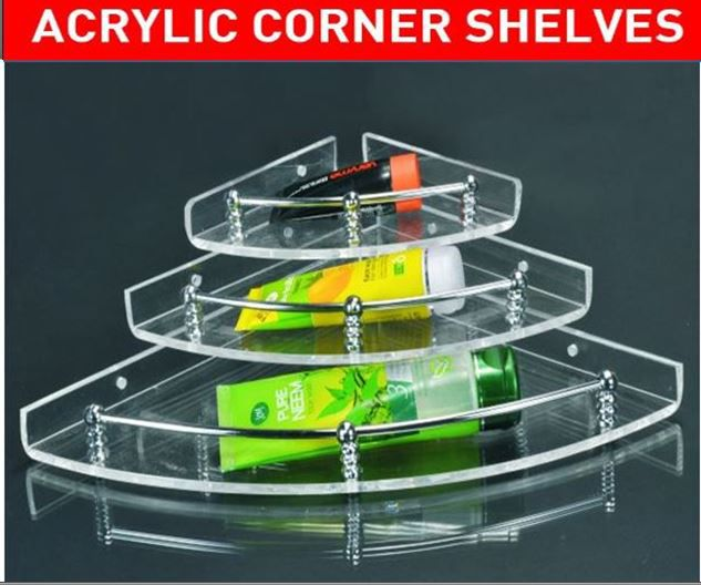 buy sss transparent wall mounted acrylic corner shelves bathroom rh snapdeal com