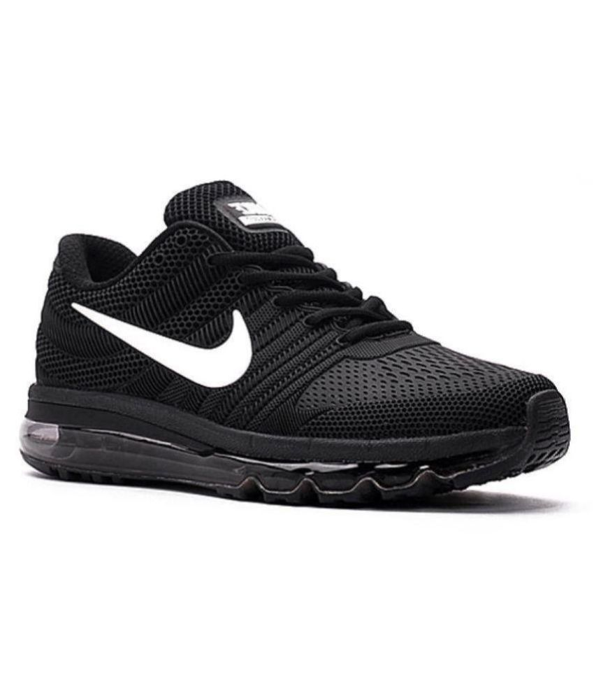 1ec44f3181 Nike Air Max 2017 Rubber Premium SP Black Running Shoes - Buy Nike Air Max  2017 Rubber Premium SP Black Running Shoes Online at Best Prices in India  on ...