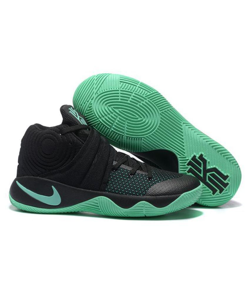 "differently faa82 3374e Nike Kyrie 2 ""GREEN GLOW"" Black Basketball Shoes ..."
