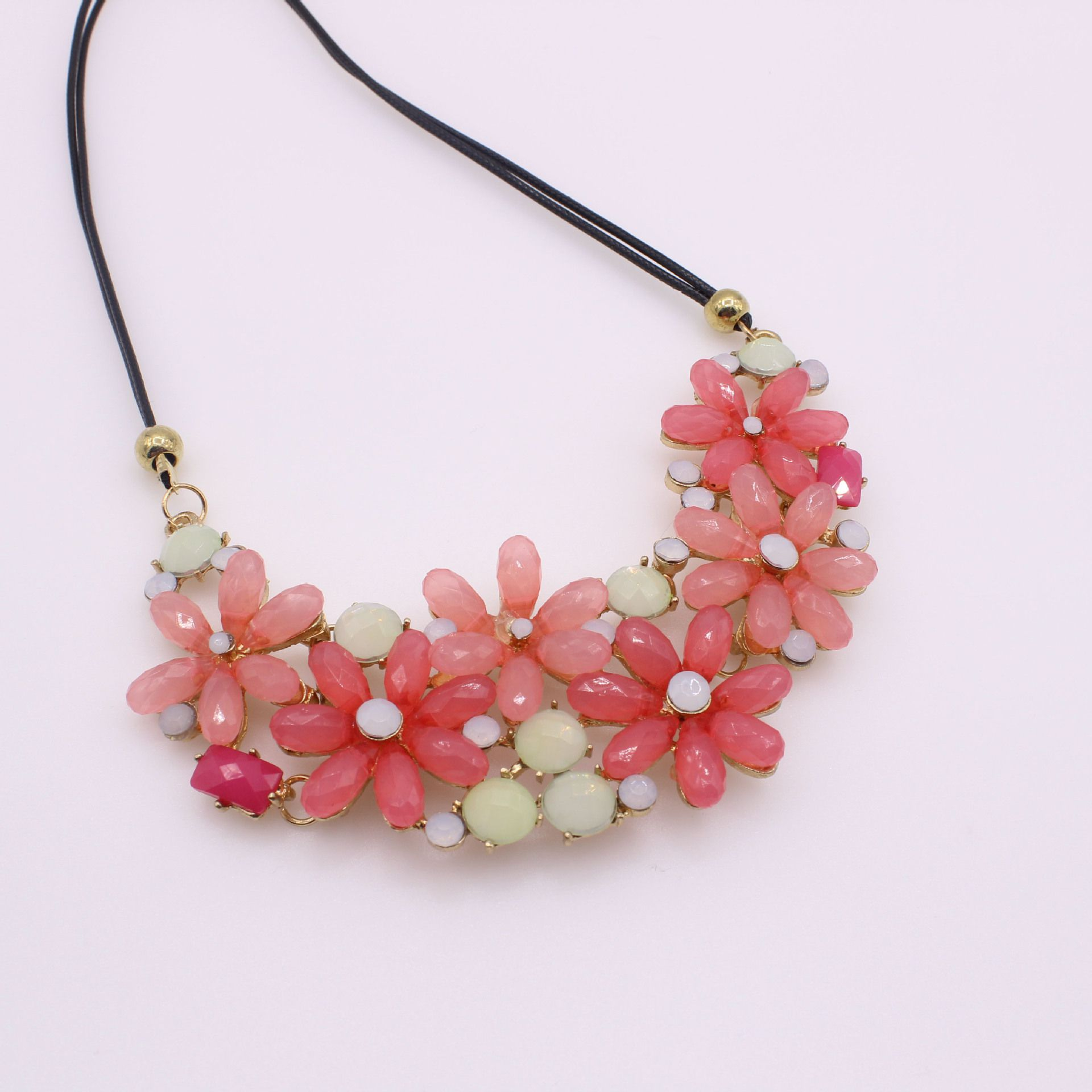 Kamalife Fashion Flowers Pink Necklace Jewelry Accessories