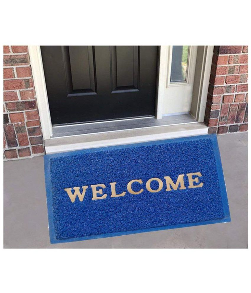 Modern Home Blue Single Anti-skid Floor Mat