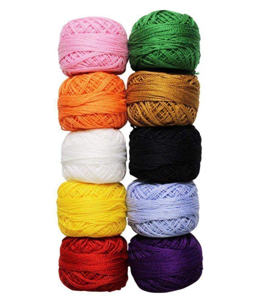 iCraft RN021 Cotton Yarn Thread (Multicolor): Buy Online ...