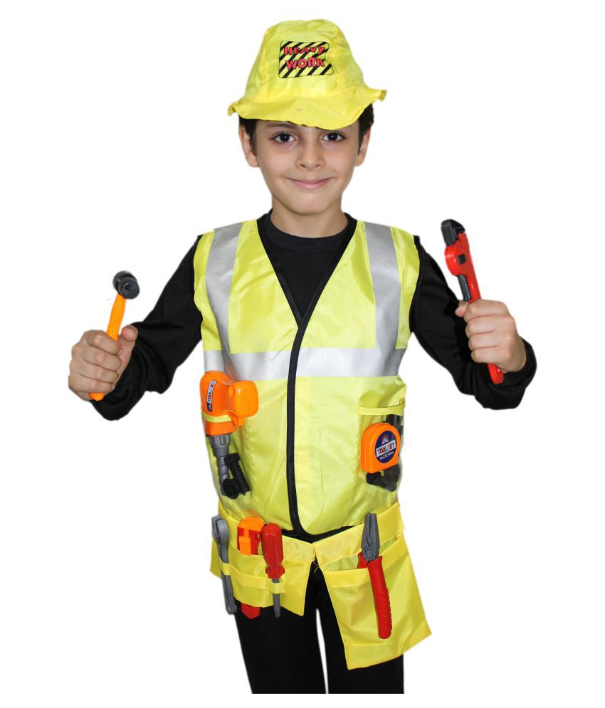 a4283714450d Kaku Fancy Dresses Engineer Costume,Worker Costume For Kids School Annual  function/Theme Party/Competition/Stage Shows/Birthday Party Dress - Buy  Kaku Fancy ...
