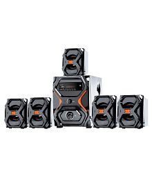 I Kall IK555 5.1 5000 PMPO watts Channel Bluetooth Speaker System Sound Box Home Theatre With Mobile Phone