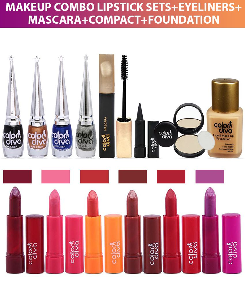Color Diva Daily Usage Face Makeup Combo Set Of 14