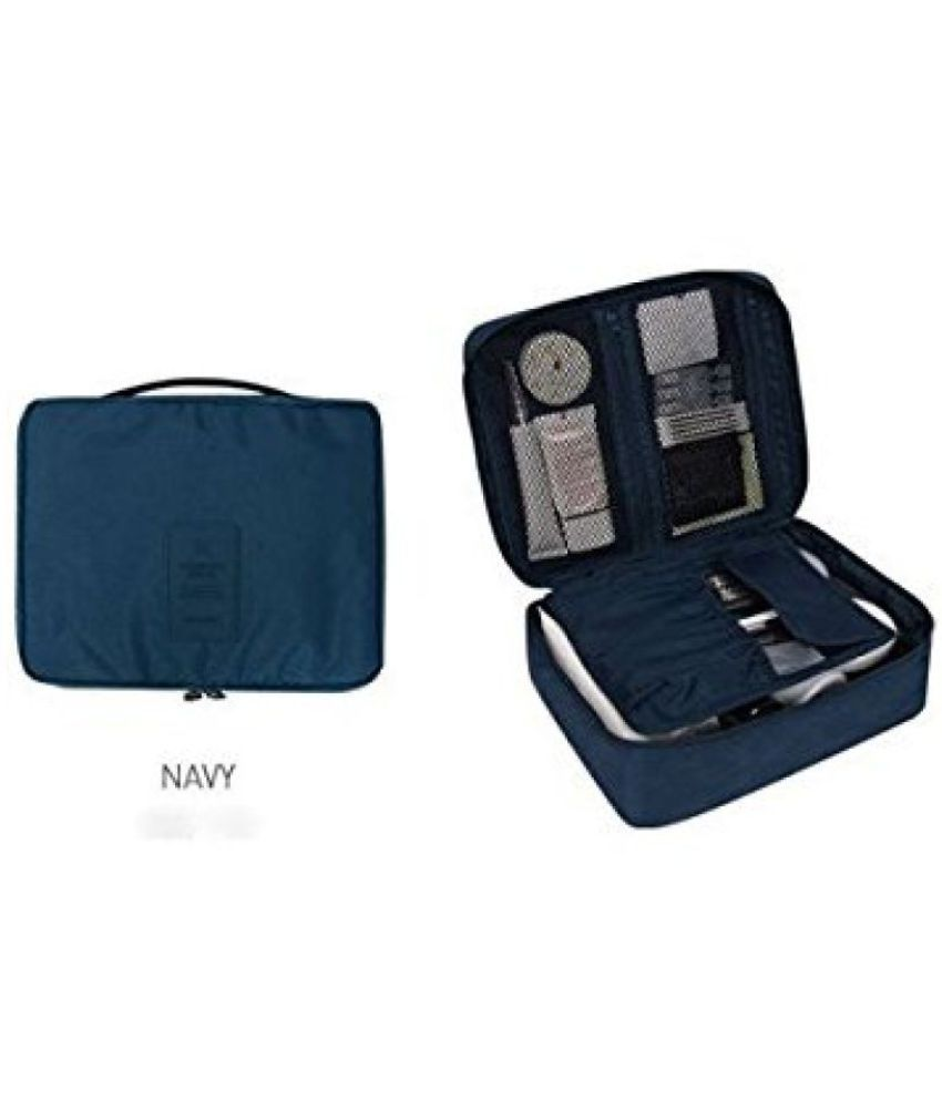 Kanha Blue Multi-Pouch Cosmetic Makeup Toiletry Bag