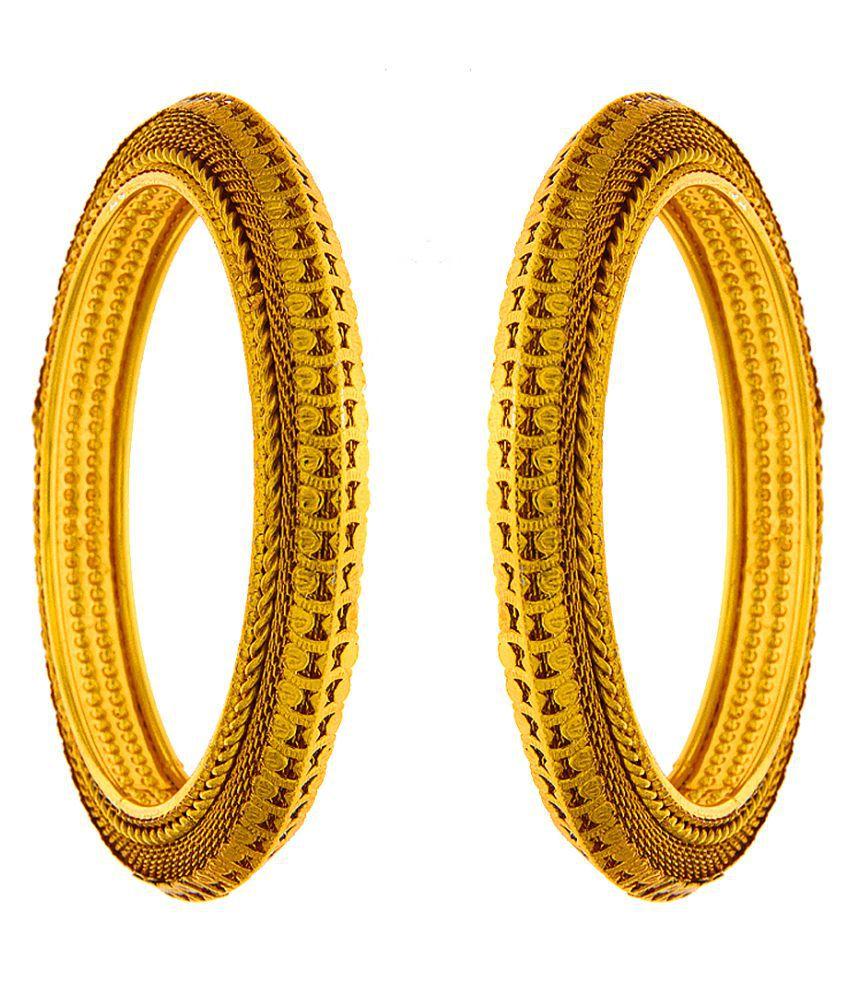 Anuradha Art Gold Finish Wonderful Stylish Traditioanl Bangles Set For Women/Girls