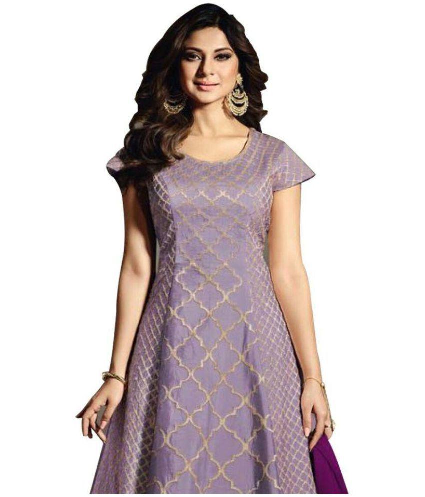 6ed2a4d57 Wommaniya Impex Purple Bangalore Silk Pakistani Semi-Stitched Suit - Buy  Wommaniya Impex Purple Bangalore Silk Pakistani Semi-Stitched Suit Online  at Best ...