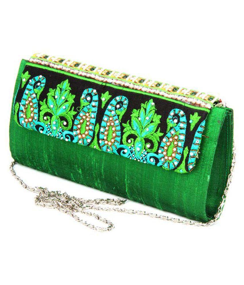 ABQA Green Silk Handheld