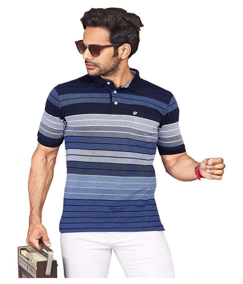 KUNDAN SULZ GWALIOR Blue Half Sleeve T-Shirt Pack of 1