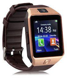 WDS Dz09 Smartwatch Suited Asus ZenFone Live L1 - Gold Smart Watches