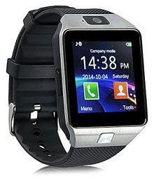 WDS Dz09 Smartwatch Suited iBall Andi 4.3J+ - Silver Smart Watches