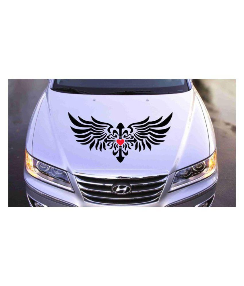 Decor kafe funky quirky wings design car decals stickers black buy decor kafe funky quirky wings design car decals stickers black online at low price