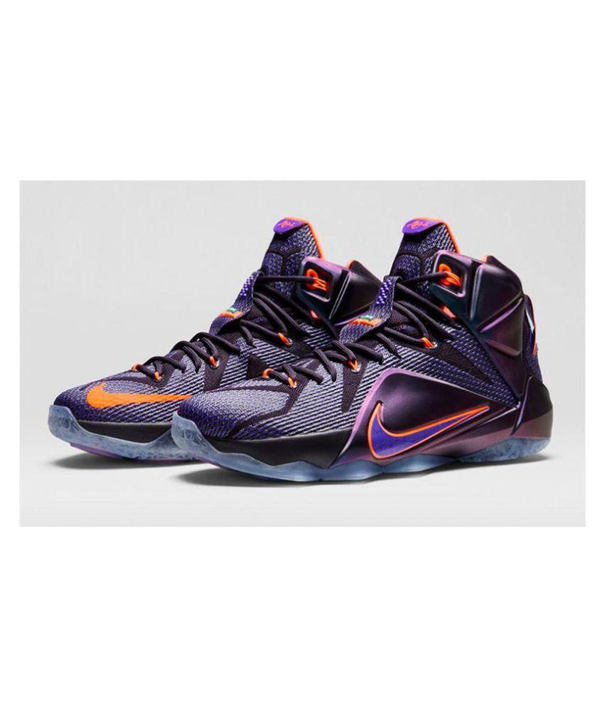 reputable site b87f4 f9c58 Nike lebron james 12 Purple Basketball Shoes