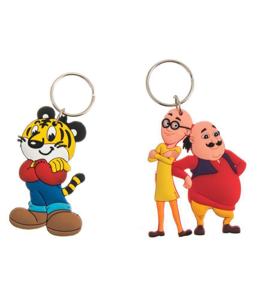 Techpro Doublesided Rubber Tiger Cartoon & Motu Patlu Design