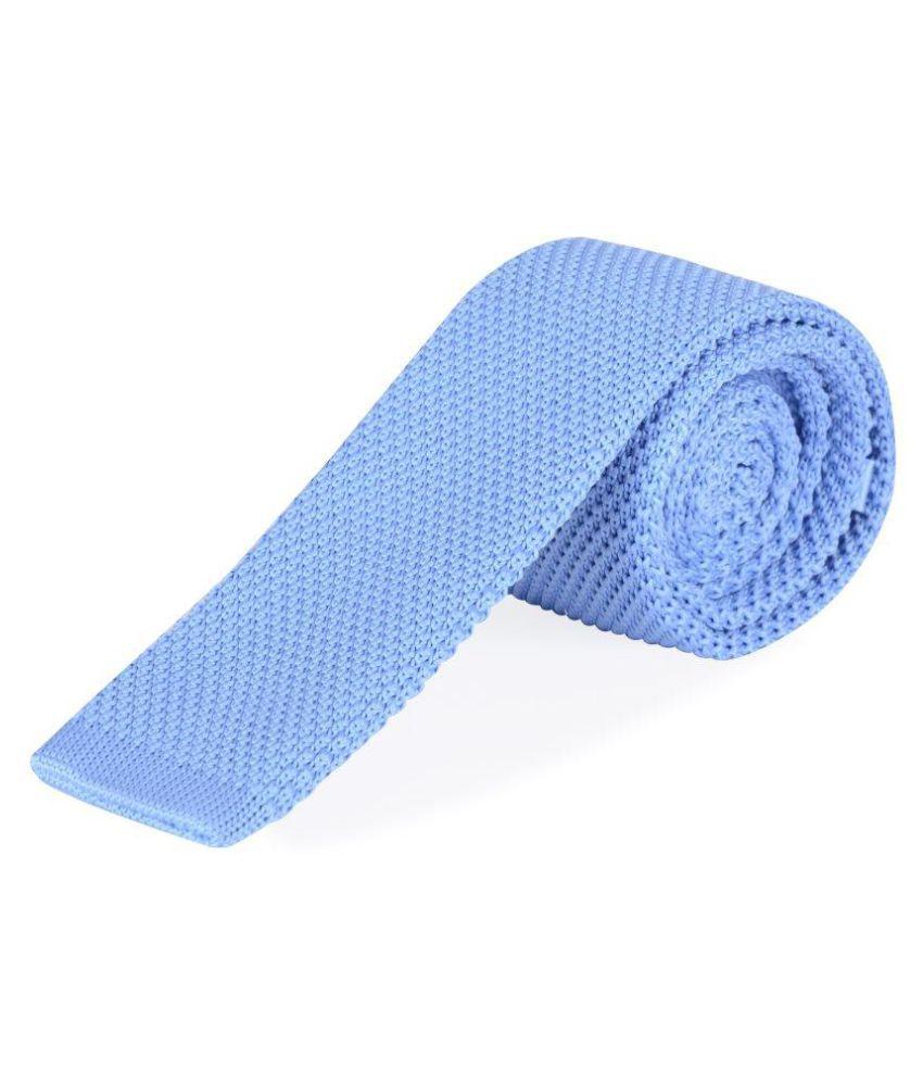 The Vatican Blue Plain Micro Fiber Necktie