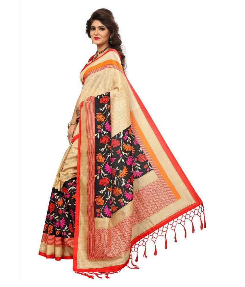 3d7bf67708 Varni Fashion beige Cotton Silk Saree Varni Fashion beige Cotton Silk Saree  ...