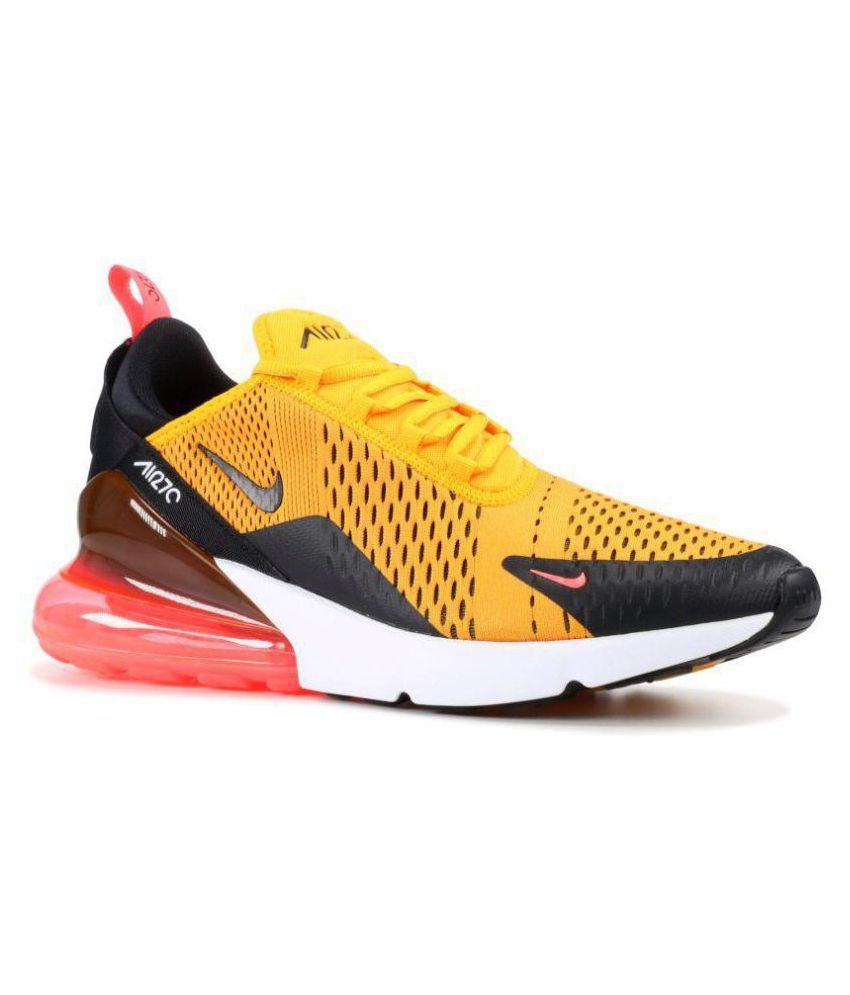 1d5e8e41e0d343 Nike Air Max 270 Tiger Yellow Running Shoes - Buy Nike Air Max 270 Tiger  Yellow Running Shoes Online at Best Prices in India on Snapdeal