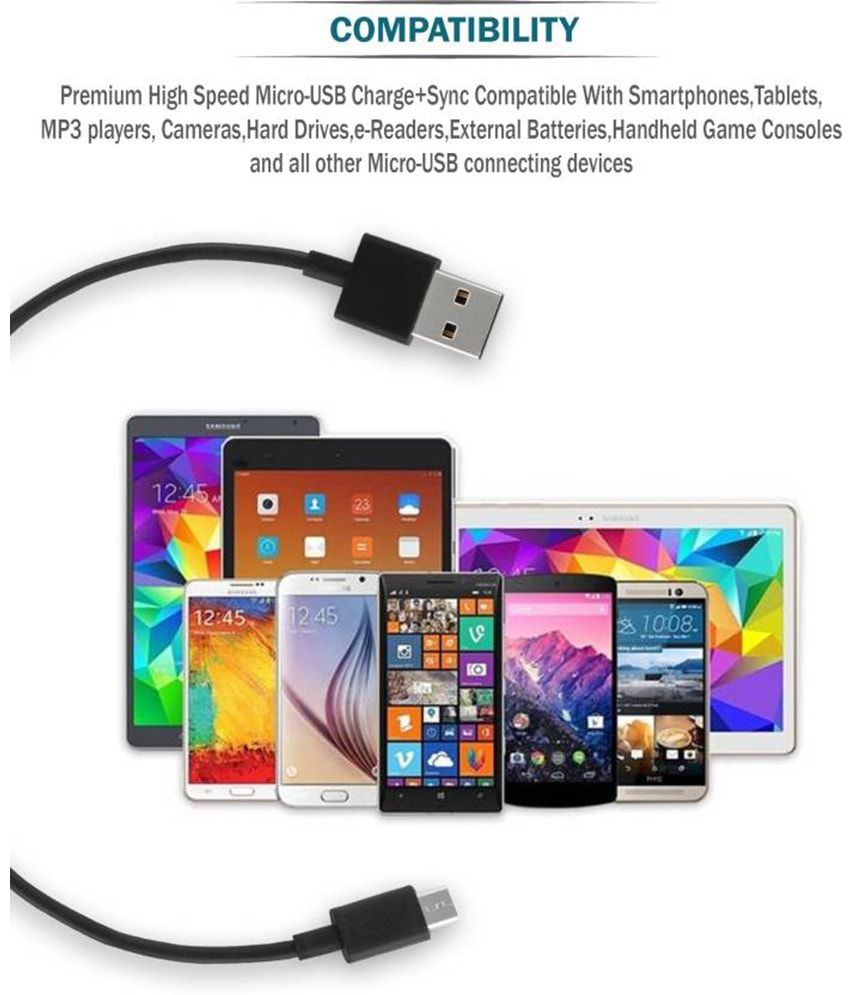 Redmi Usb Data Cable Black 21a Fast Charging 12 Meter For Original Kabel Xiaomi Micro 2 3 4 Note