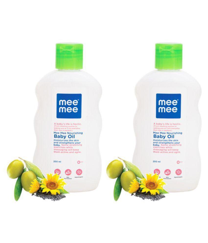 Mee Mee Baby Oil - 200 ml(Pack of 2)