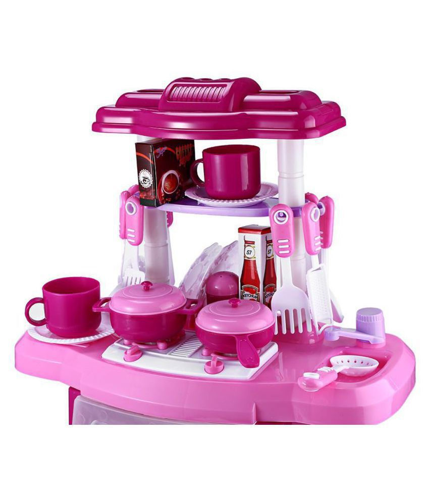 Webby Kids Kitchen Set Children Toys Large Cooking Simulation Model Play Toy For