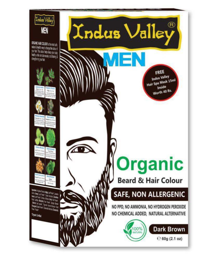 Indus Valley Beard & Hair Colour Hair Fibers Dark Brown 60 g