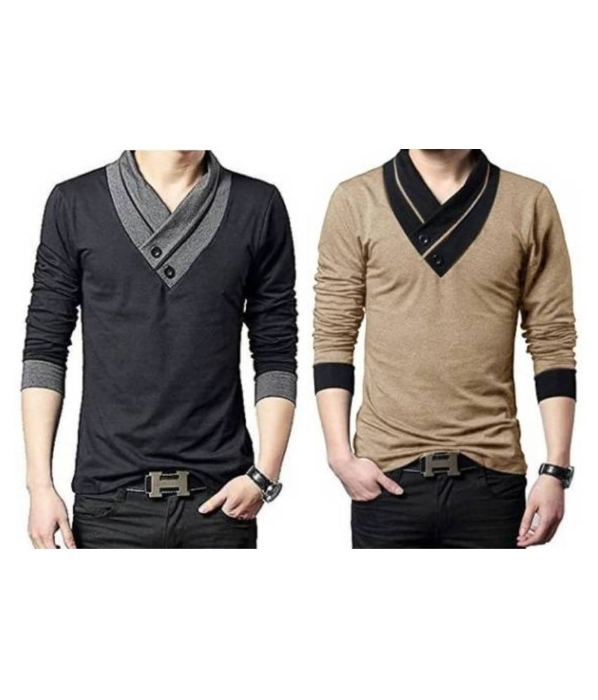 Try This Gold Full Sleeve T-Shirt