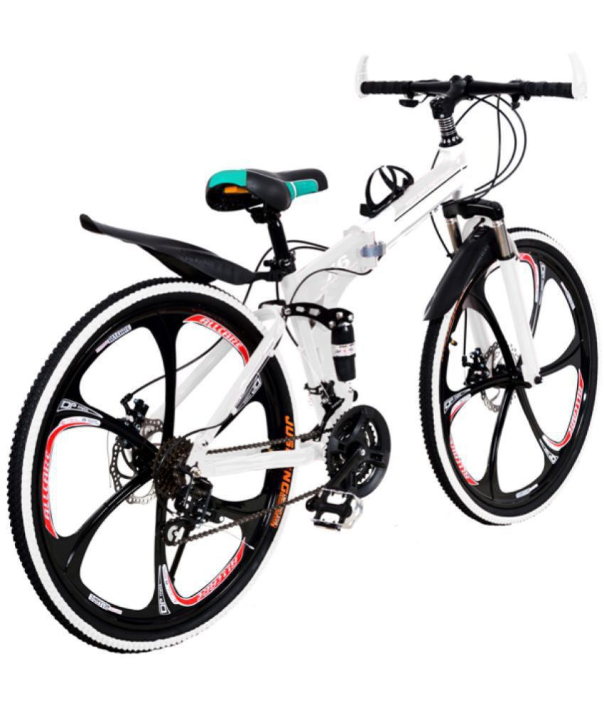 bb3ed60ca49 ... x6 21 gears folding cycle White 66.04 cm(26) Folding bike Bicycle Adult  Bicycle. Hover to zoom