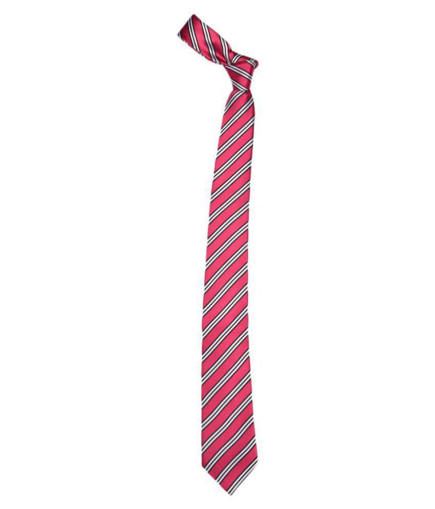 Alvaro Castagnino Red Stripes Micro Fiber Necktie