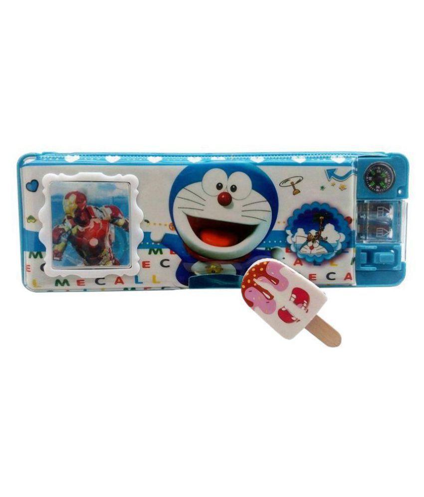 8ecf834d9 AshmAadi-- Kidz Marketplace Pencil box For boys Multi Design and color With  LED Light, Calculator, Dual Sharpener and Designer Eraser: Buy Online at  Best ...