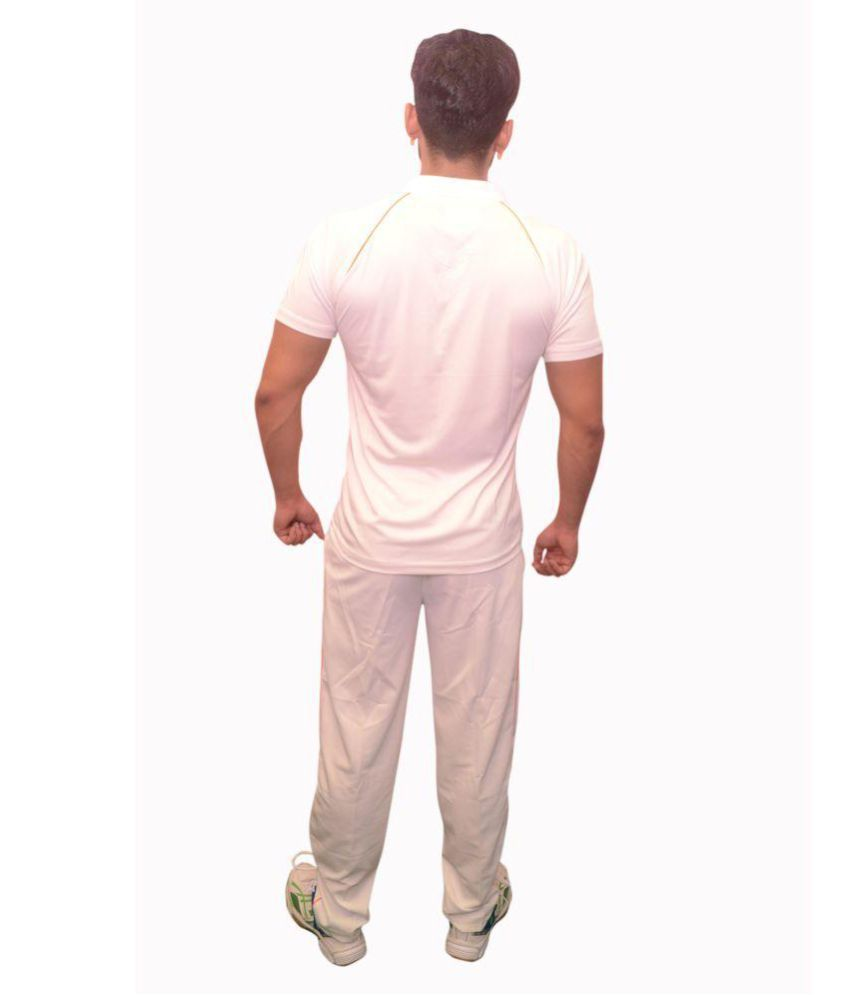 liegue White Polyester Lycra Polo T-Shirt