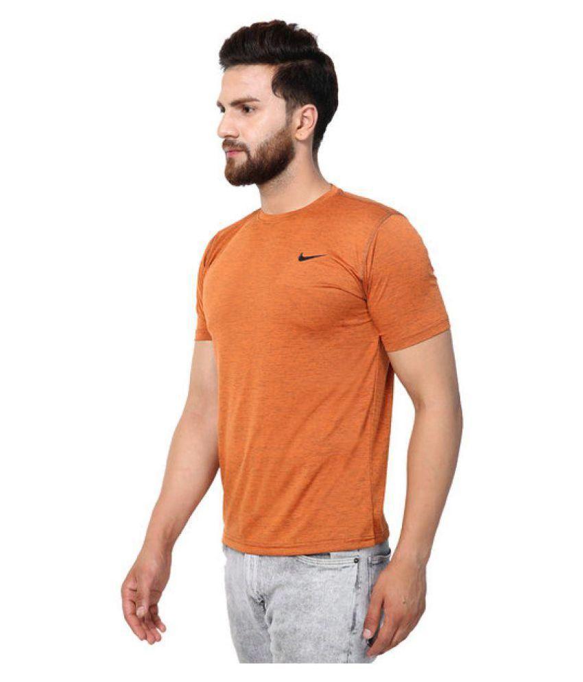 HUMAN CLOTHES Orange Half Sleeve T-Shirt