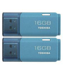 Toshiba U202A 16GB USB 2.0 Utility Pendrive Pack of 2