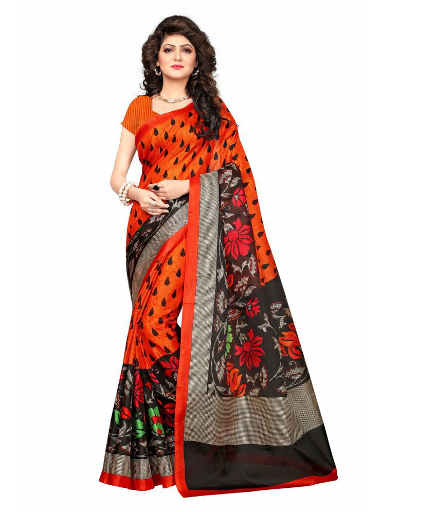 Aika Red and Grey Jute Saree
