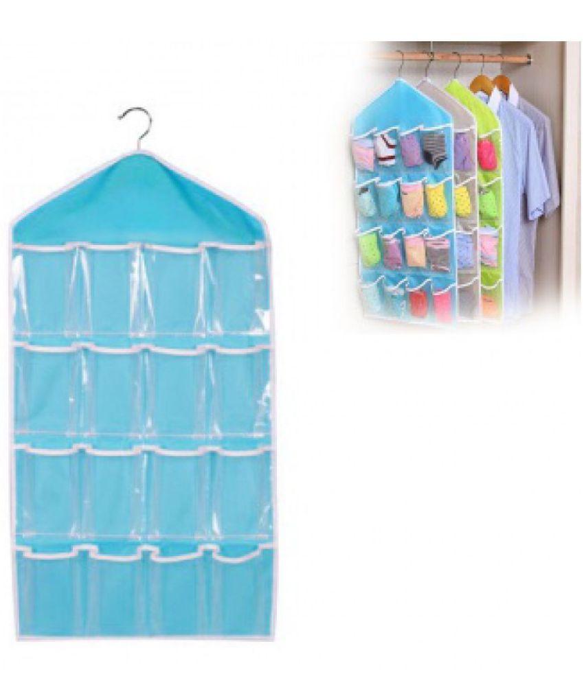 Everbuy Blue Hanging Candy Wardrobe Storage Organizer