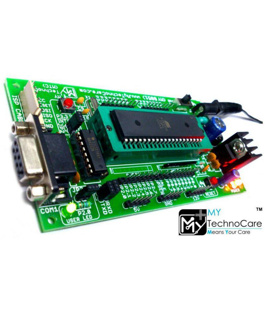 My Technocare Atmel 8051 Development Board Zif Socket Max232 Circuit Diagram Of At89s52 Microcontroller Ic Project Kit Support