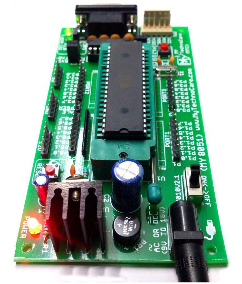 My Technocare Atmel 8051 Development Board Zif Socket Max232 Isp Pc Software For Programming This At89s51 52 Microcontroller Can Be At89s52 Ic Project Kit Support