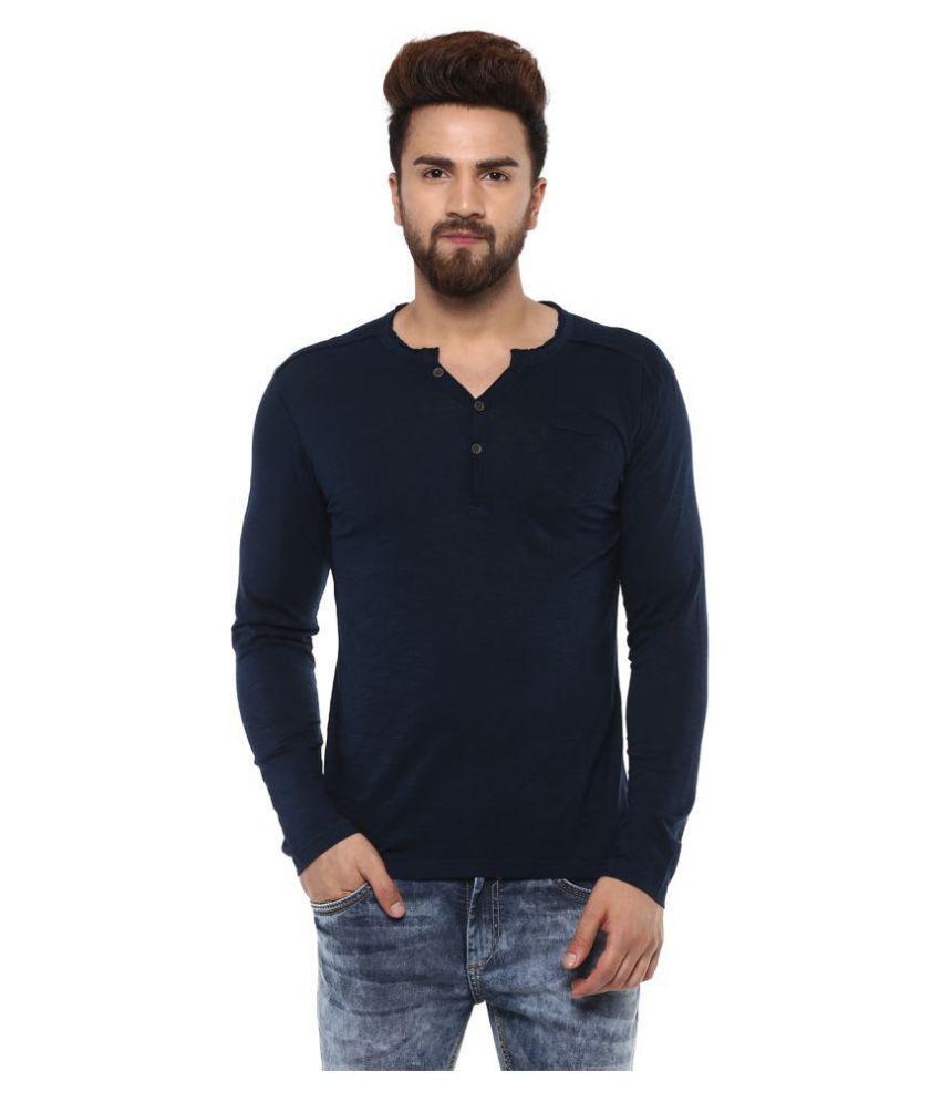 Mufti Navy Full Sleeve T-Shirt