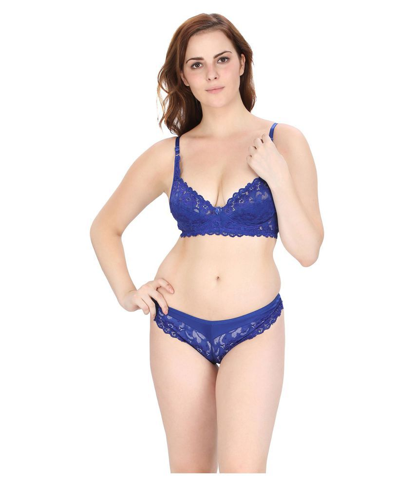 3b7c7c991 Buy Pinkbox Cotton Bra and Panty Set Online at Best Prices in India -  Snapdeal