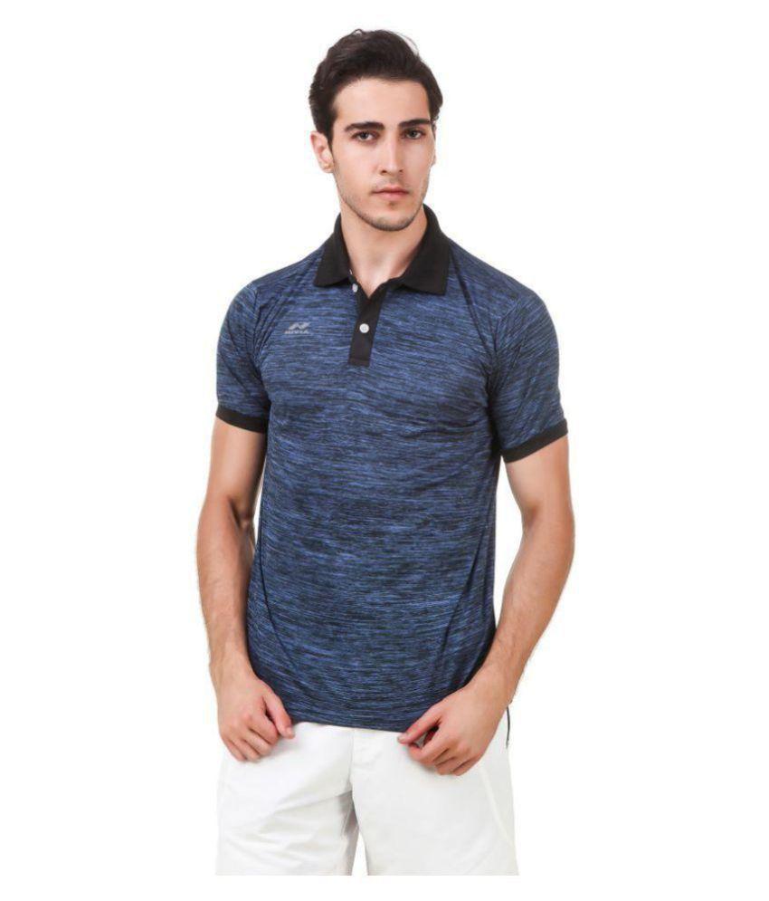 Nivia Blue Polyester T-Shirt-2245XXL-1