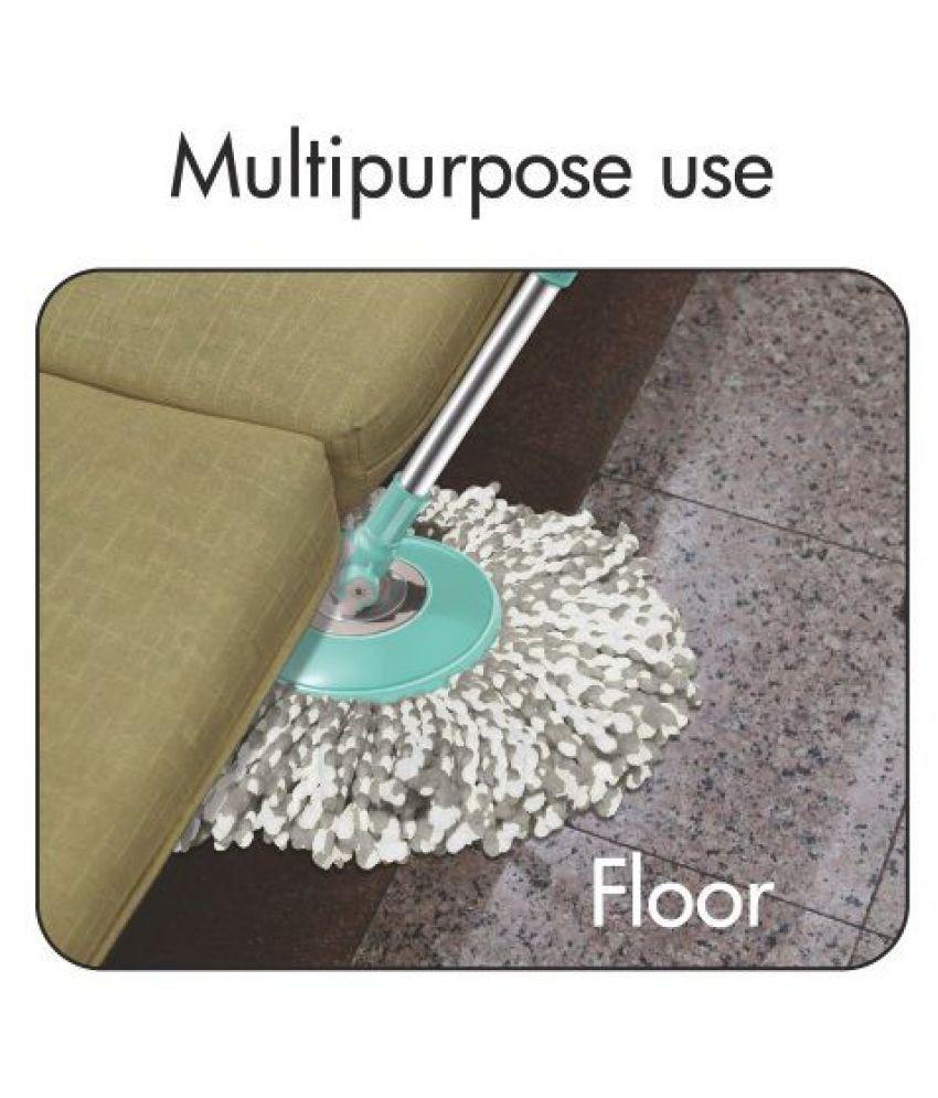 Spotzero by Milton Double Spin Bucket Magic Mop Set Cleans Liquid, Oil,  Dust, Hair & Bacteria