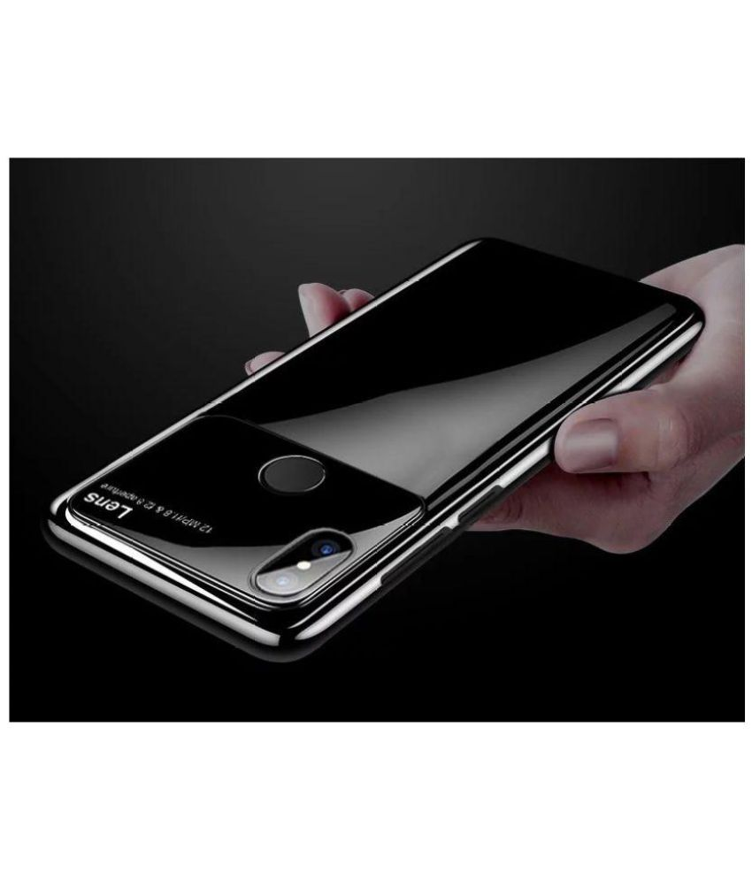 100% authentic ee73a 556ea Xiaomi Redmi Note 5 Pro Hybrid Covers JMA - Black Luxury Smooth Ultra Thin  Mirror Effect Lens Case